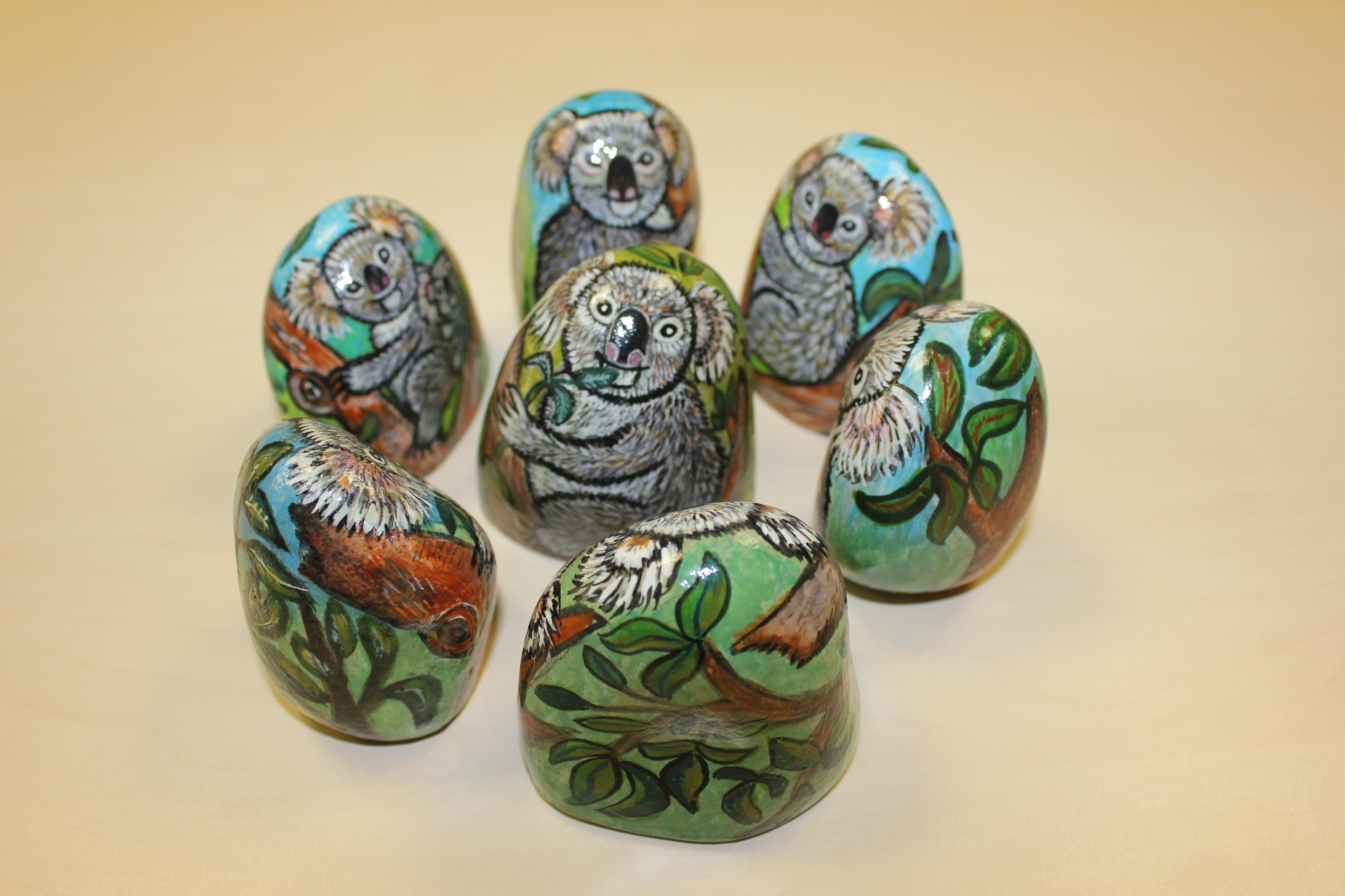 Эксклюзивные картины на камне: австралийские коалы by Татьяна Страутмале