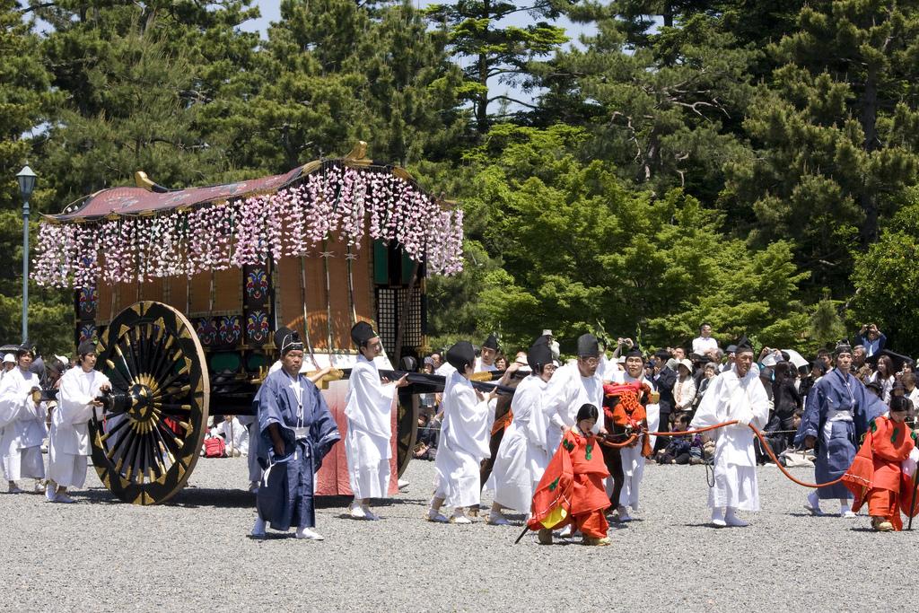 Parāde ar košiem Heian ēras tērpiem, Kioto