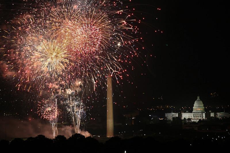 Neatkarības dienas svinības Vašingtonā, Kolumbijas apgabals