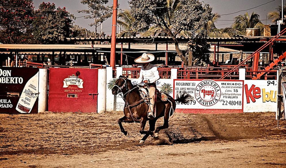 Tradicionālais Meksikas jāšanas veids – Charreria