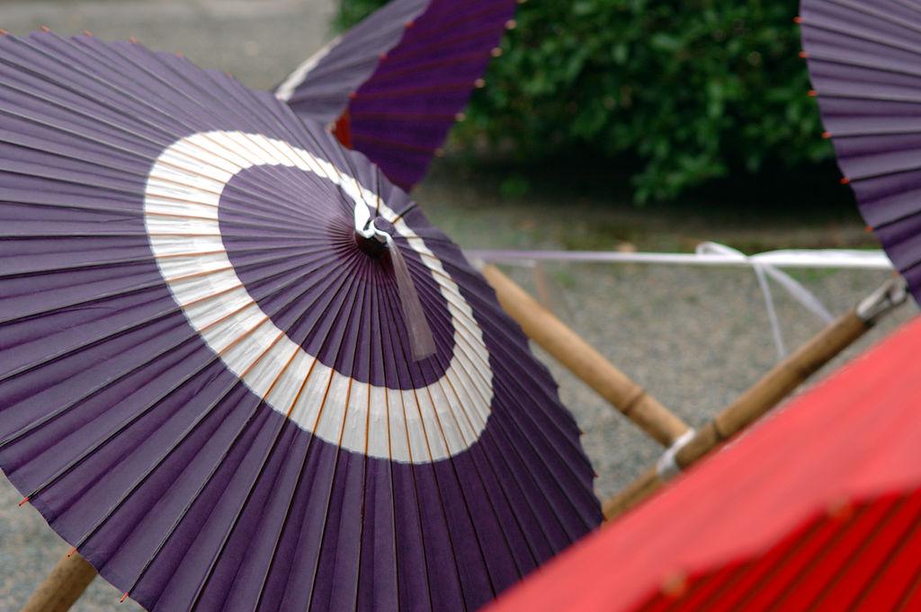 Japāņu lietussargi kasa