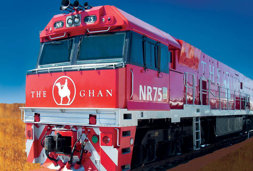 Vilciens The Ghan